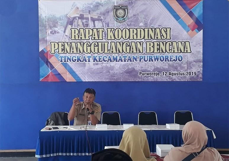 Rapat Koordinasi Penanggulangan Bencana Tingkat Kecamatan Purworejo